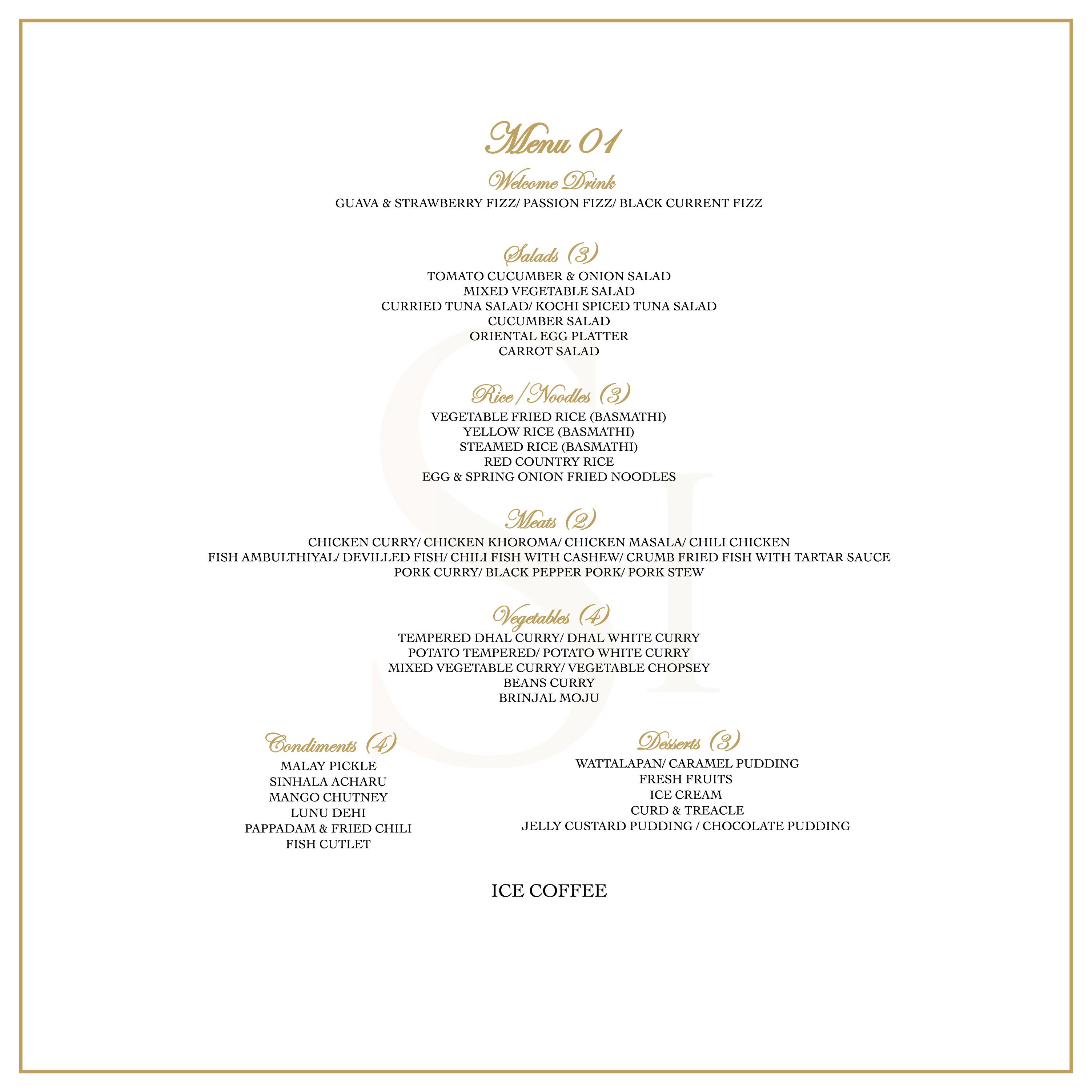 Banquet Menu 1