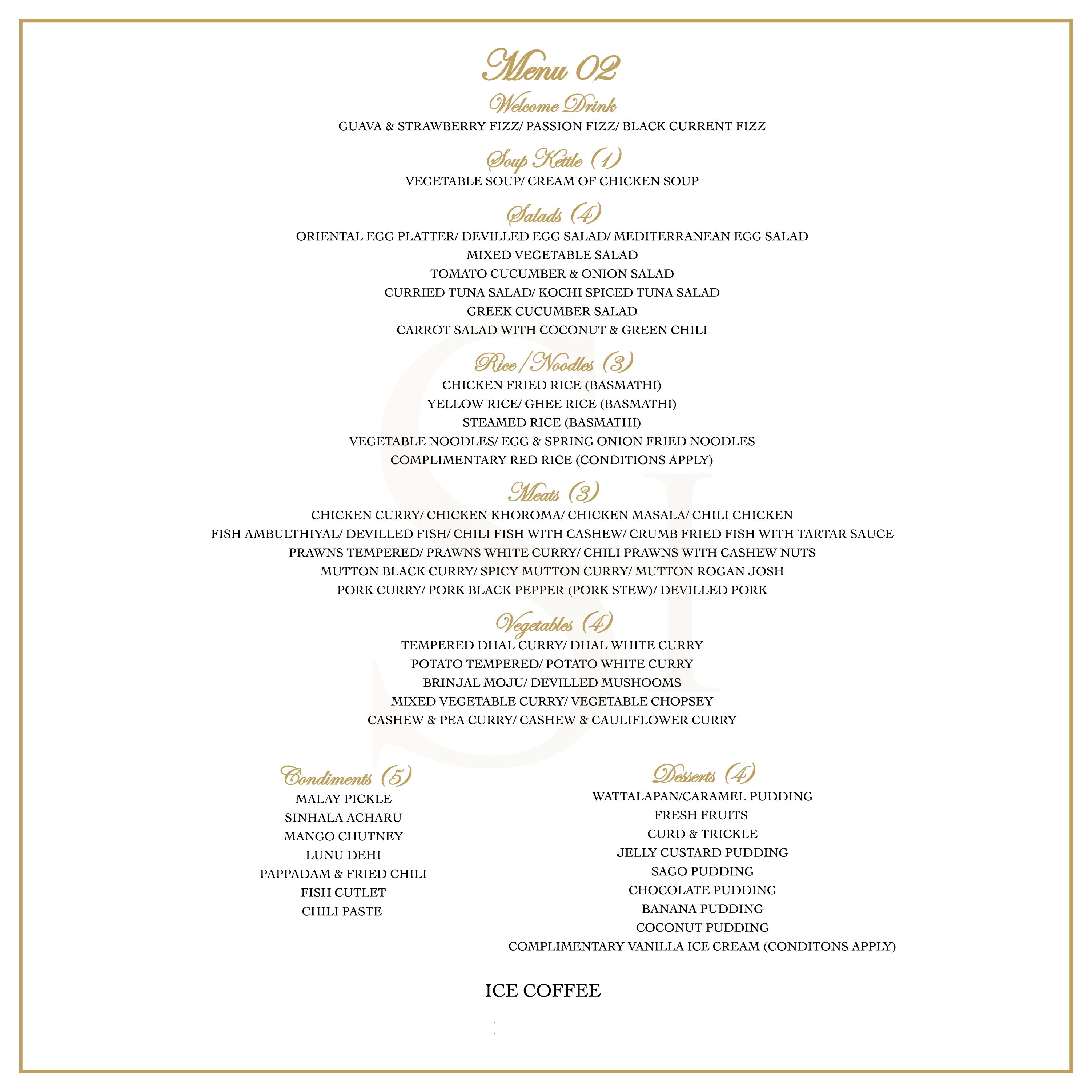 Banquet Menu 2