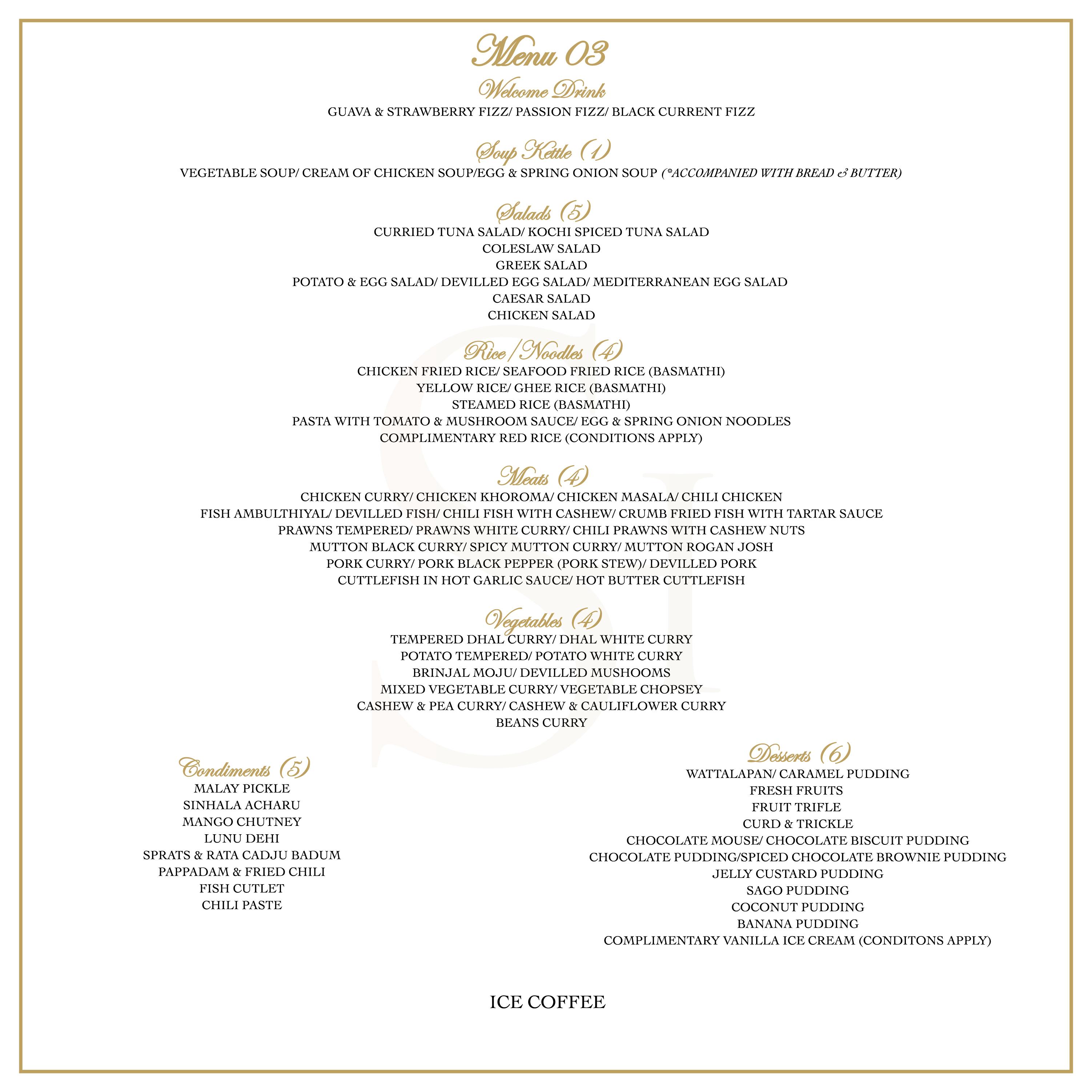 Banquet Menu 3