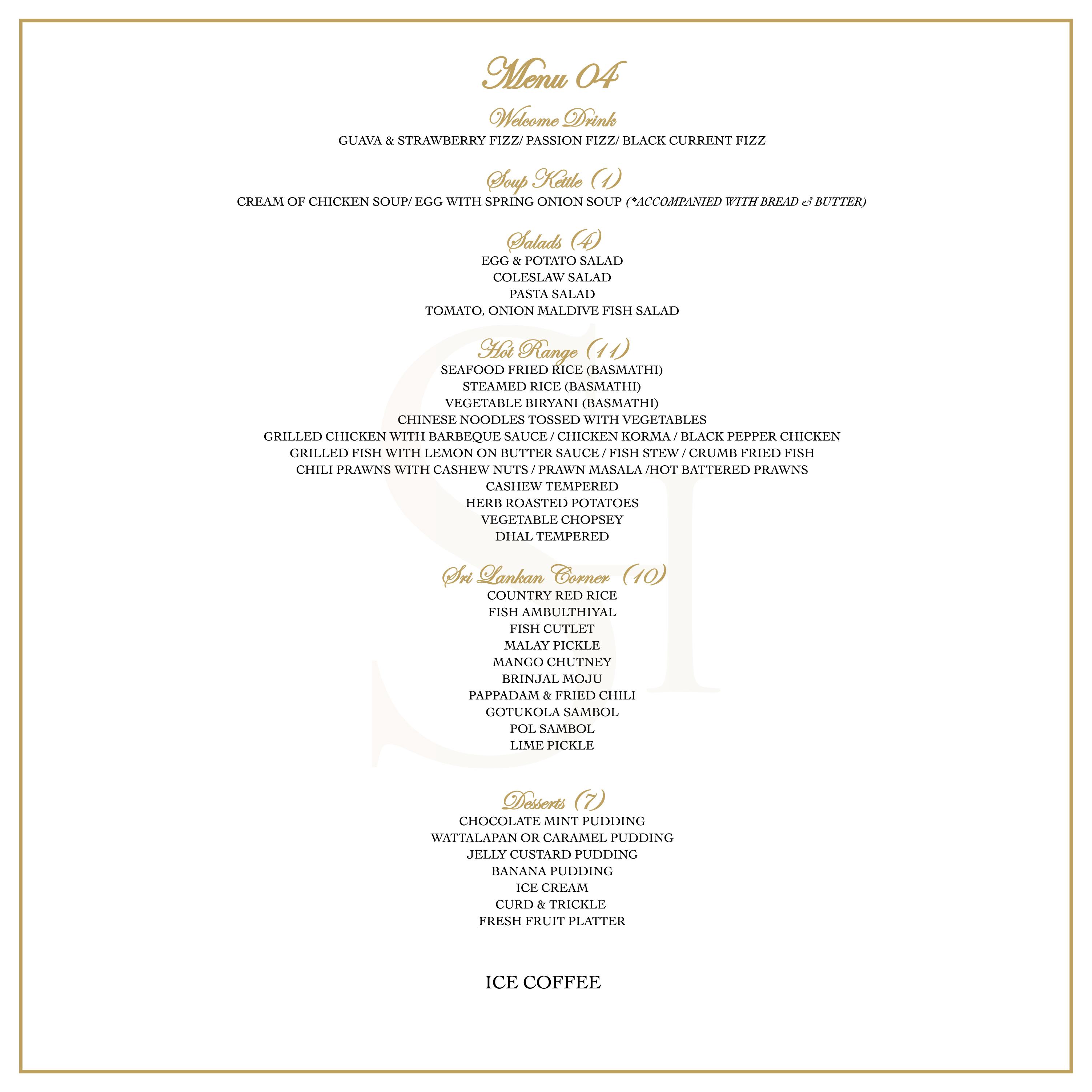Banquet Menu 4 2018